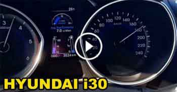 Hyundai i30 Otoban Son Hız Top Speed Denemesi - Hyundai i30 Top Speed in Highway - VERY FAST CAR