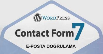 Wordpress Contact Form 7 E-Mail Doğrulama İşlemi