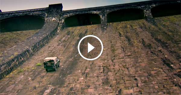 Climbing a dam wall with a Land Rover – Amazing Performance