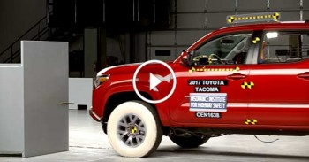 Toyota Tacoma Crash Test - Double Cab Small Overlap 2017