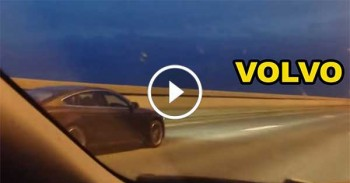 Volvo s60 T5 vs Audi A5 Revo Highway Race - TOP SPEED
