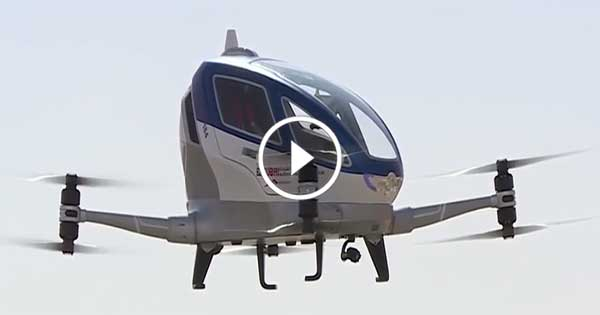 Drone Taxi in Dubai – Amazing Taxi – TODAY'S TECHNOLOGY